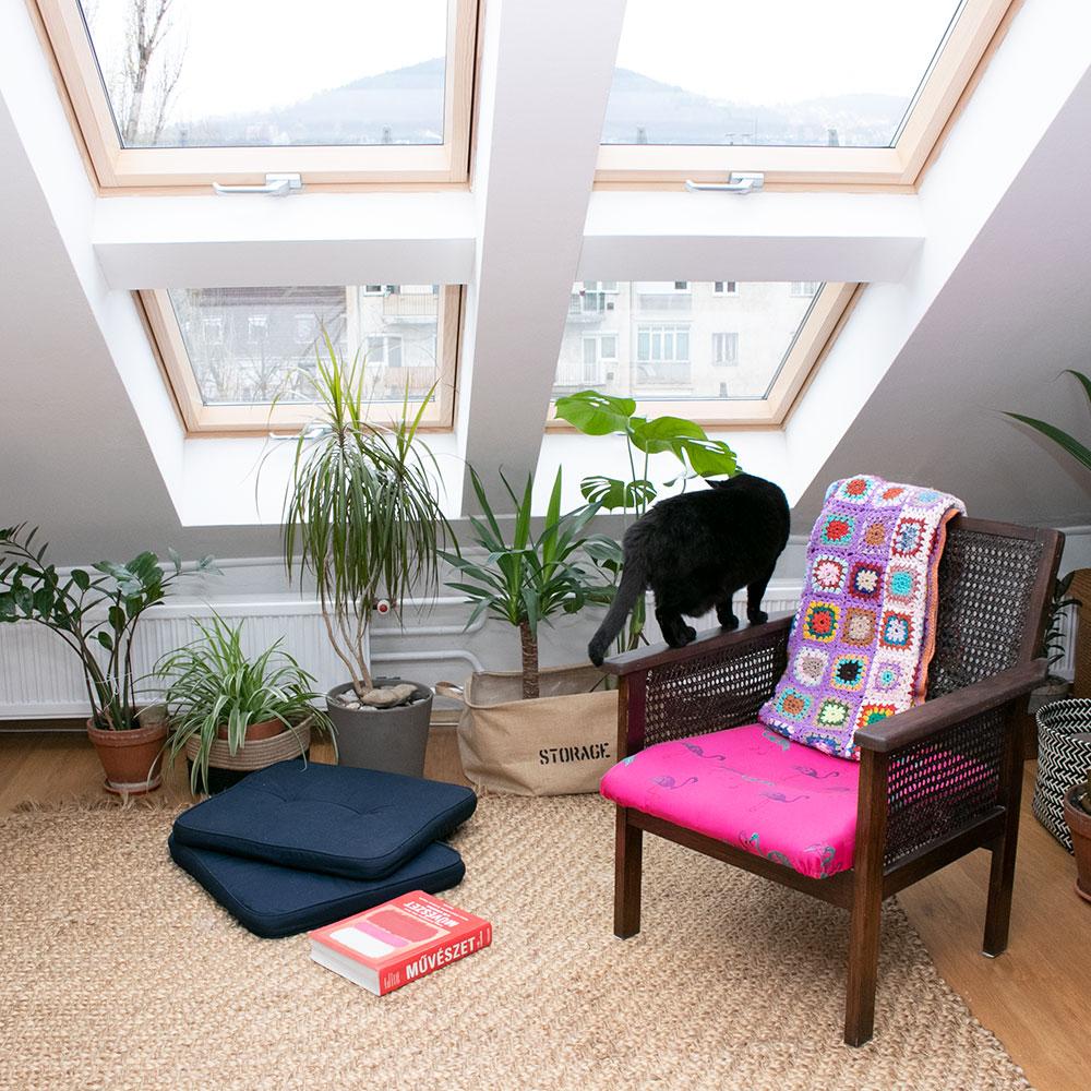 Csoportos tetőtéri ablak beépítés