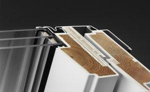 VELUX műanyag tetőablak metszete